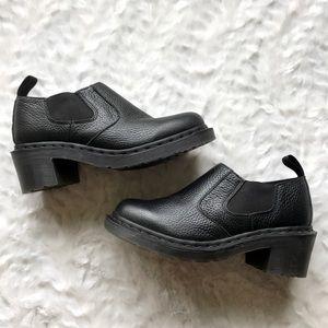 NEW Dr. Martens Cherry Black Slip On Shootie Boot